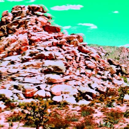 Photo: Heaps Rock of Dino Mtn. (TV Scramble)
