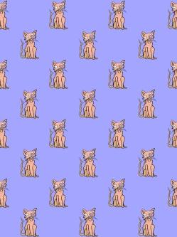 Meow (Orange/Purple)