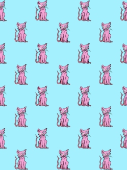 Meow (Pink/Blue)